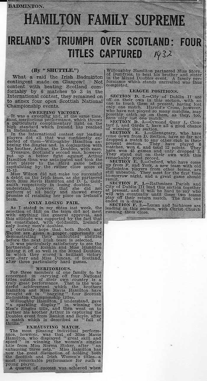 press report from 1932